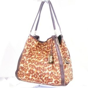 Coach Madison Ocelot Print Shoulder Bag